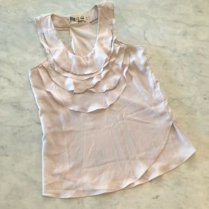Ruffle Tank Blouse with beading detail